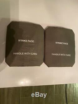 Ceramic STRIKE-FACE BODY ARMOR SIDE PLATES (1pr) LEVEL III/IV CERAMICS 6x8