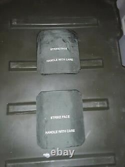 Ceramic STRIKE FACE BODY ARMOR SIDE PLATES (pair) LEVEL III