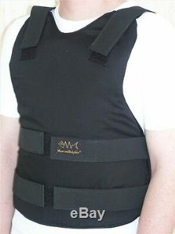 Concealable Civilian Bulletproof Vest Body Armor Protection Level 3A XXXXL Black