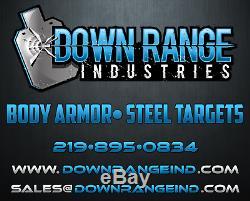 DRI AR500 Level III Body Armor Plates Pair Curved 10 x 12 USA MADE