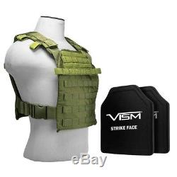 Fast Plate Carrier w Level III+ Plus Hard PE Shooters Cut Ballistic Bulletproof
