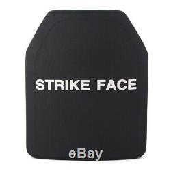 Fits Military NIJ III/IV Armor Ceramic Face Ballistic Bulletproof Vest Plate BLK