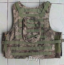Green Python pattern vest carrier+2PCS III ceramic plates