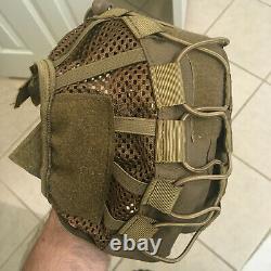 HHV Ballistic Helmet in Tan With Upgrades/ Wilcox Shroud/ Team Wendy Retention