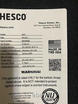 Hesco 4401 Plate Set, size 10x12, shooters cut
