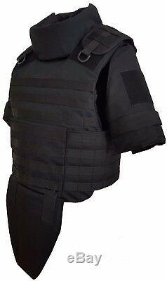 III level Body Armor Plate Carrier Vest MOLLE, color Black