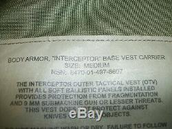INTERCEPTOR CAMOfLAGED PLATE CARRIER With LEVEL 3 PLATES, FRONT AND BACK, MEDIUM