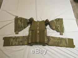 Large Multicam Tactical Plate Carrier Level III Body Armor Vest with Rifle Plates