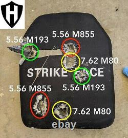 Level 3+++, III+++ ballistic plate, body armor 10x12 5.7 lbs with spall plate