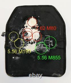 Level 3+, III+ ballistic plate, body armor 10x12 lab tested, with spall plate