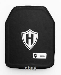 Level 3+++ black tip resistant ballistic plate, body armor 10x12 Ceramic