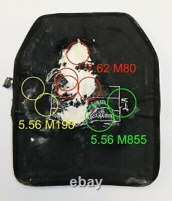 Level III+ 3+ ballistic plate body armor 4.6lbs lab tested with anti spall plate