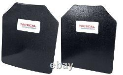 Level III AR500 Steel Body Armor 10x12 1 Curved + 1 Flat Coated Quick Ship