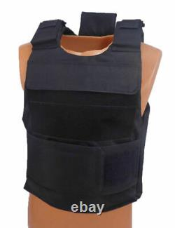 Level III AR500 Steel Body Armor Complete With Lightweight Vest Black