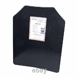 Level III AR500 Steel Body Armor Pair 11x14 Curved Plate Coated Quick Ship