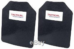 Level III AR500 Steel Body Armor Plates Pair 8 x 10 Curved Plate Coated