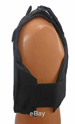Level III AR500 Steel Body Armor With Lightweight Vest Black Full Spall Build-up
