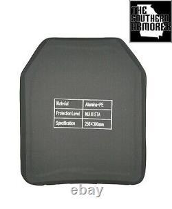 Level III Body Armor Ballistic Plate 10 X 12 4.7 Lbs Light Weight 3 Tsa Brand