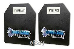 Level III Body Armor Plates Pair Flat 10 x 12 USA MADE IN STOCK SHIPS FAST