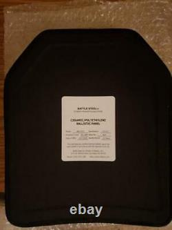 Level III+ PE / Ceramic Plates 10x12 Special Threat Body Armor