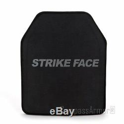 Lvl III STA Stand Alone Ceramic Ballistic Hard Armor Plates Single Curve 25X30cm