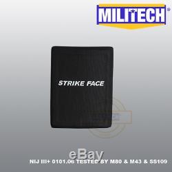 MILITECH Alumina NIJ III+ Level 3+ 6X8 Ballistic Hard Armor Side Panel Pair Set