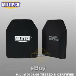 MILITECH NIJ III+++ 10X12 Alumina Ceramic bulletproof Plate Ballistic Panel Pair