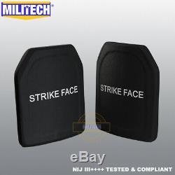 MILITECH NIJ III++++ Level 3++++ 10X12 Shooters Cut Ballistic Hard Armor Panel