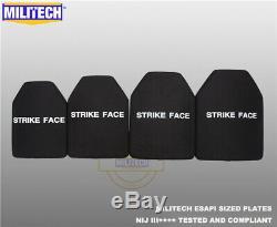 MILITECH NIJ III++++ Level 3++++ ESAPI L Shooters Cut Ballistic Hard Armor Panel