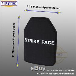 MILITECH NIJ III+++ Level 3++++ ESAPI XL Shooters Cut Ballistic Hard Armor Panel