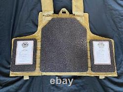 Multicam Tactical Vest Plate Carrier With Plates- 2 10x12 curved Front/back &Sides