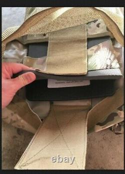 Multicam Tactical Vest Plate Carrier With Plates- 2 10x12 curved Plates