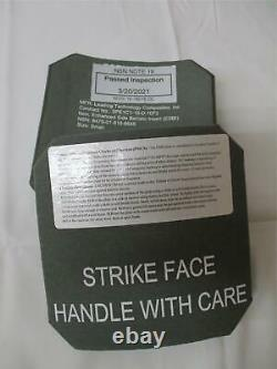 NEW (2) STRIKE FACE BODY ARMOR SIDE PLATES LEFT & RIGHT LEVEL III CERAMICS 6x6