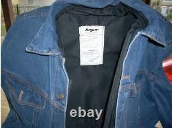 NEW Israeli Personal Body Armor III-A(3A) Bulletproof Jeans Jacket in Blue
