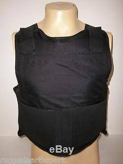 New LARGE Concealable Bulletproof Vest Plate Carrier Body Armor Level III A 3A