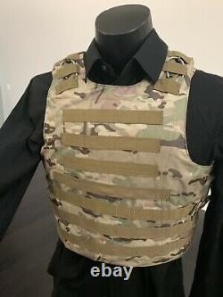New Tactical Carrier Bulletproof Vest AR500 Plate Body Armor Ballistic Panels