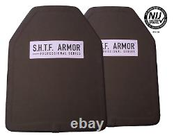 Only 3.5 lbs each! Pair (2) of NIJ Level 3 Certified 11X14 Body Armor Inserts