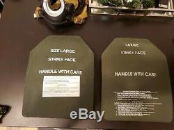 PAIR LARGE 10x13 BODY ARMOR LEVEL 3+ ESAPI PLATES