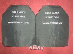 Pair of X-Large 11 x 14 curved ESAPI body armor LEVEL III+ plates
