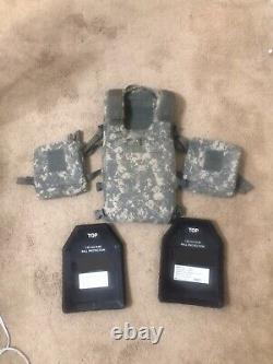 Plate Carrier With Plates and Soft Ballistic Inserts Small KDH Magnum tac 1
