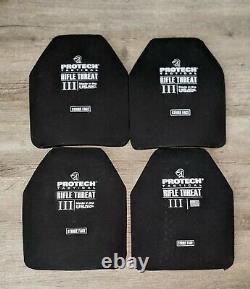Protech Level III Tactical Body Armor Plates (2 Sets) Multicurve NIJ certified