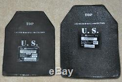 Protective Body Armor Ceramic Strike Plates 7.62mm Level III Large & Small