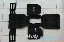 Quick release Black tactical vest carrier +2PCS III Ceramic Plates (one size)