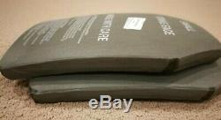 SAPI Plate Enhanced Ceramic Ballistic Armor Green Level III APM2 Small