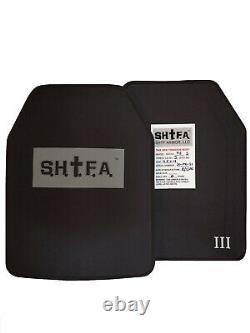 SHTF Armor Big Man Inserts LEV 3 UHMWPE SAPI lightweight 11.5x14 not ar500 body