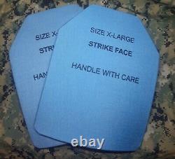 Set of (2) 11x14 Level III 3++ Medium Strike Face Body Armor Plates