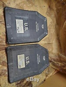 Set of 2 Ballistic Armor Plates SAPI 7.62 SAPI Large Plates Front, Back, level 3