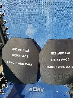 (Set of 2) Level III Ballistic Armor Plate SAPI 7.62 Size Medium