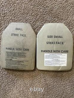 Set of (2) Level III Medium Strik Face Body Armor ESAPI Plates