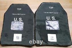 Set of (2) Level III Medium Strik Face Body Armor ESAPI Plates CIF
